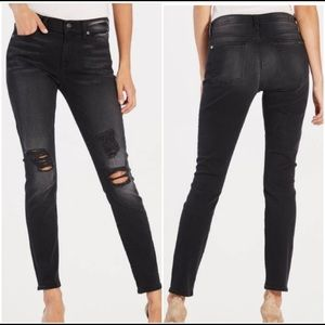 7 For All Mankind Black Skinny Ankle Jeans - 26